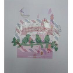 Fustella metallica Uccellini sul ramo