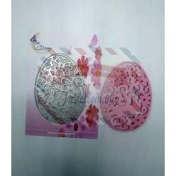 Fustella metallica Uovo intagliato con coniglietto