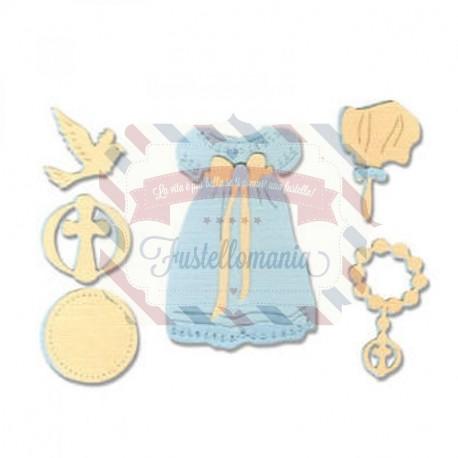 Fustella Sizzix Thinlits Special Edition set Battesimo