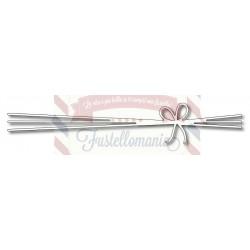 Fustella metallica Stringhe con fiocco