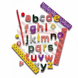 Fustella Sizzix Thinlits Alfabeto Pop Art Lowercase