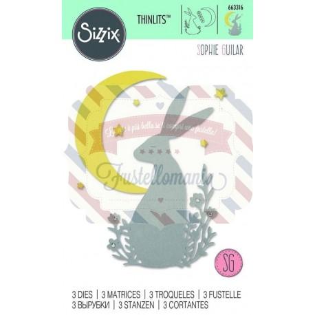Fustella Sizzix Thinlits Midnight Hare