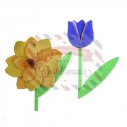 Fustella Sizzix BIGz L Spring Flowers