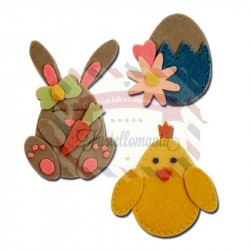 Fustella Sizzix BIGz L Bunny Chick and Egg