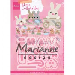 Fustella metallica Marianne Design Collectables Eline's baby bunny