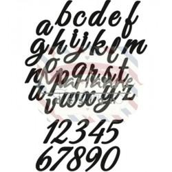 Fustella metallica Marianne Design Craftables Classic Alphabet - lower case & numbers