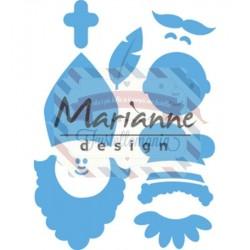 Fustella metallica Marianne Design Creatables Sinterklaas & Pieterbaas