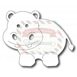 Fustella metallica Baby ippopotamo