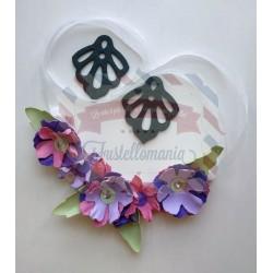 Fustella XL Collana Primavera e orecchini pendenti