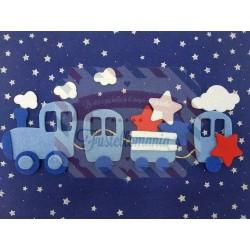 Fustella L Trenino e vagoni con nuvola e stella