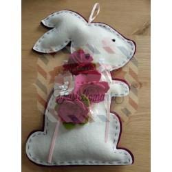 Fustella A4 Coniglio e fiore