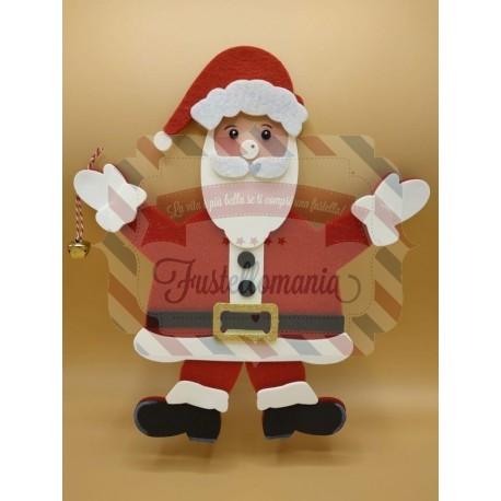 Fustella A4 doppia Babbo Natale