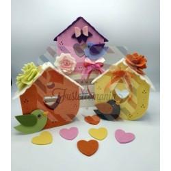 Fustella XL Casetta con cuore ghirigori e fiore