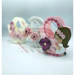Fustella L Borsetta con fiori