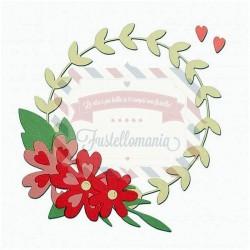 Fustella Sizzix Thinlits floral wreath