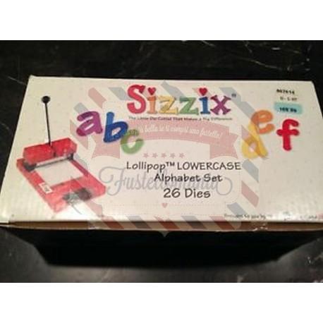Fustella Sizzix Alfabeto Lollipop Uppercase minuscolo - RARISSIMO -