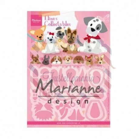 Fustella metallica Marianne Design Collectables Eline's puppy