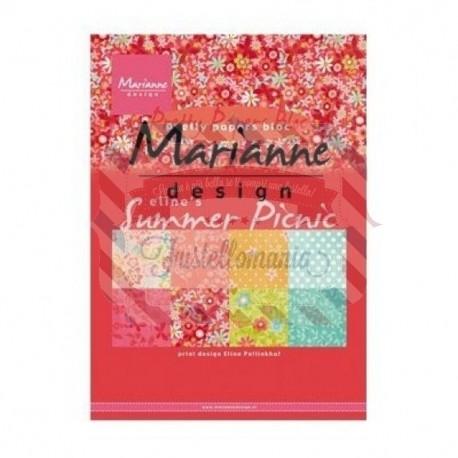 Carta da scrapbooking Marianne Design pretty papers bloc Eline's summer picnic