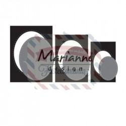 Fustella metallica Marianne Design Craftables basic passe-partout ovals