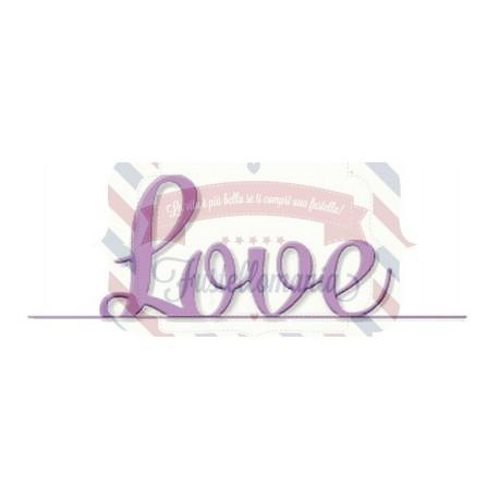 Fustella metallica Love con bordo