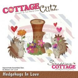 Fustella metallica Cottage Cutz Hedgehogs In Love