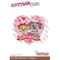 Fustella metallica Cottage Cutz Be My Valentine Puppies