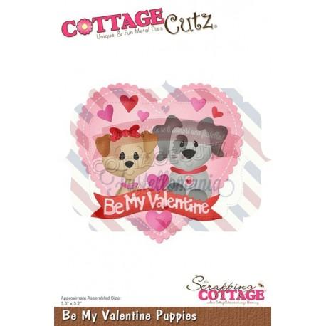Fustella metallica Cottage Cutz Be My Valentine Puppies