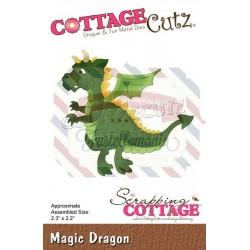 Fustella metallica Cottage Cutz Magic Dragon