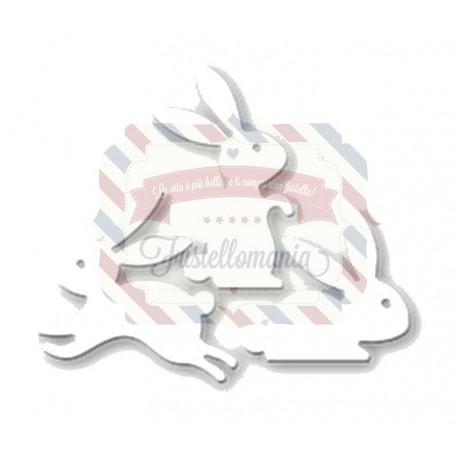 Fustella metallica Set coniglietti