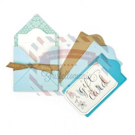 Fustella Sizzix BIGZ L Gift Card Folder & Label 2