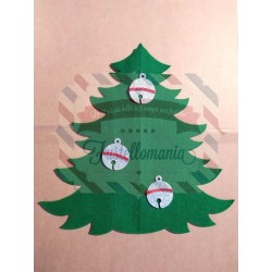 Fustella A4 Albero di Natale Jingle Bells