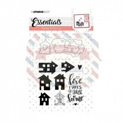 Fustella metallica e timbri Studio Light stamp & die cut A6 Essentials nr.22