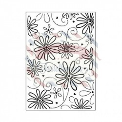 Embossing Darice folder petal
