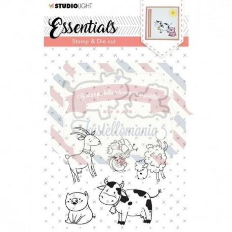 Fustella metallica e timbri Studio Light stamp & die cut A6 Essentials nr.32