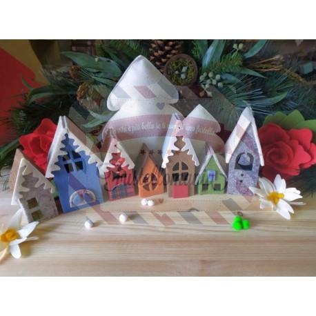 Fustella XL Villaggio natalizio 3D + elementi