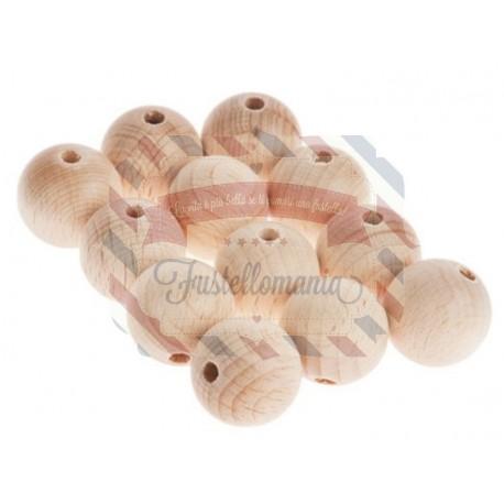 Palline di legno 25 mm. 8 pezzi