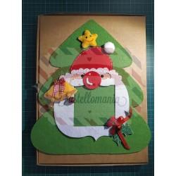 Fustella XL Cornice portafoto Babbo Natale con decorazioni