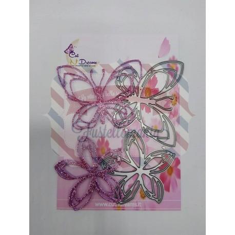 Fustella metallica Farfalla 7