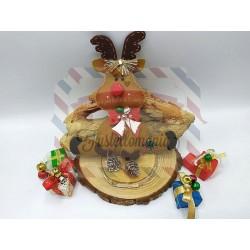 Fustella XL Renna di Natale 3D con fiocco