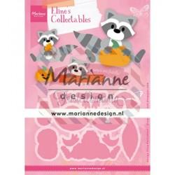 Fustella metallica Marianne Design Collectables Eline's Raccoon