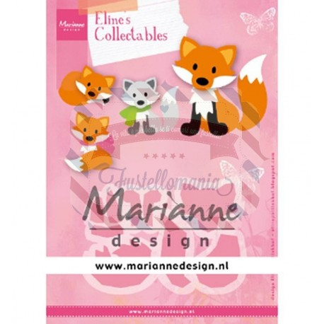 Fustella metallica Marianne Design Collectables Eline's Cute Fox