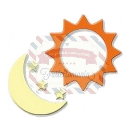 Fustella metallica Sole luna stelle