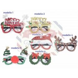 Occhiale natalizio rivestito in stoffa modello a scelta