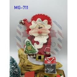 Fustella doppia XL+L Babbo Natale 3D con mini lanterna e albero