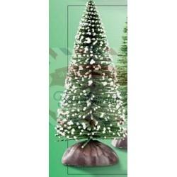 Abete decorativo verde e bianco 8 cm