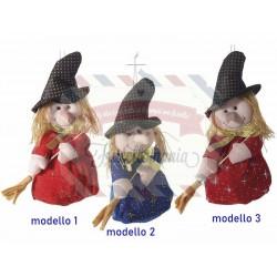 Befana decorativa portadolci in stoffa da appendere modello a scelta