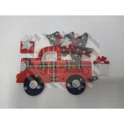 Fustella L Furgoncino natalizio e albero di Natale