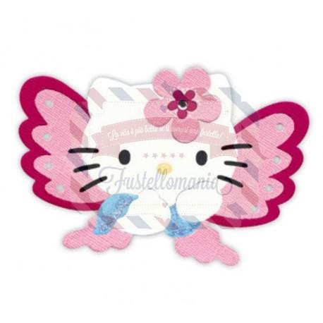 Fustella Sizzix Bigz Hello Kitty Farfalla