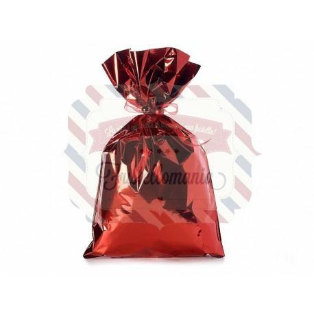 Busta metallizzata rosso lucido 30x50 cm