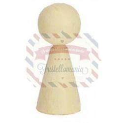 Corpo in legno per creare pupazzetti 30x70 mm 1 pezzo
